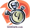 Vector Clipart picture  of a stopwatch