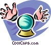 crystal ball Vector Clipart illustration