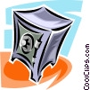 Vector Clip Art picture  of a safe