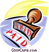 rubber stamps, Paid in full Vector Clipart picture