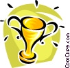 Vector Clip Art graphic  of a trophy