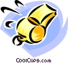 sports whistle Vector Clip Art picture