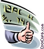 thumbs up market projections Vector Clipart image