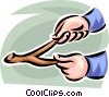hands holding a divining rod Vector Clip Art picture