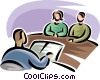 Vector Clipart image  of a husband and wife at the
