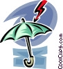 Vector Clipart image  of a umbrella and sales arrow