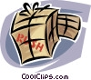 shipping crates/boxes Vector Clipart image