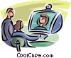 business people having a meeting via the computer Vector Clip Art picture