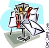 letter delivery Vector Clip Art graphic