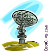 Vector Clipart image  of a satellite dish