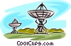 Vector Clipart graphic  of a satellite dishes