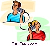 people talking on the telephone Vector Clip Art picture