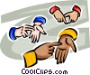 different hands Vector Clip Art picture