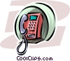 telephone Vector Clipart image