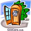 Vector Clipart picture  of a public telephone