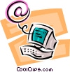 Vector Clipart picture  of a computer e-mail