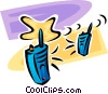 walkie-talkies Vector Clipart graphic