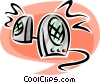 Vector Clip Art image  of a computer speakers