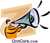 Vector Clipart graphic  of a person with a megaphone