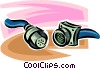 computer cables Vector Clipart picture