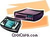 VCR and videotape Vector Clip Art image