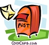 mailbox with letter Vector Clipart picture