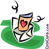 Vector Clipart picture  of a valentine letter