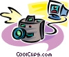 digital camera Vector Clipart illustration