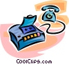 Vector Clipart image  of a telephone answering machine