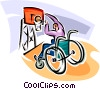 Vector Clip Art graphic  of a wheelchair basketball player