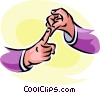 sign language Vector Clipart picture