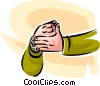Vector Clipart graphic  of a sign language
