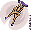 crutches Vector Clip Art graphic