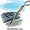 Vector Clipart image  of a cane for the blind