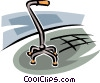 walking cane Vector Clipart illustration