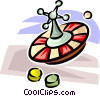 Vector Clip Art image  of a roulette wheel
