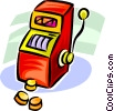 slot machine Vector Clip Art picture