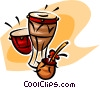 bongos Vector Clipart graphic