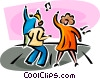 Vector Clipart illustration  of a dancers