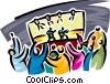 Vector Clipart picture  of a live concert