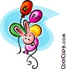 Vector Clipart graphic  of a party balloons
