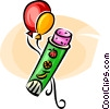 balloons and candy Vector Clipart illustration