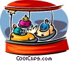 Vector Clip Art picture  of a bumper cars