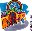 tunnel ride Vector Clip Art graphic