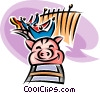 roller coaster Vector Clipart picture