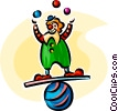 Vector Clip Art image  of a Clown act