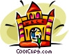 fun house Vector Clipart illustration