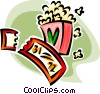 movie ticket and popcorn Vector Clip Art image
