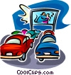 drive in theatre Vector Clip Art picture