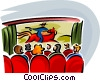 movie theatre Vector Clipart picture